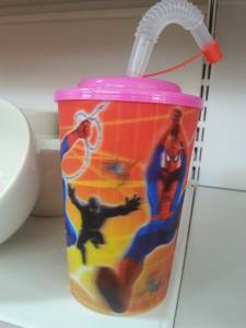 55657 Plastic  Waterglass With Straw