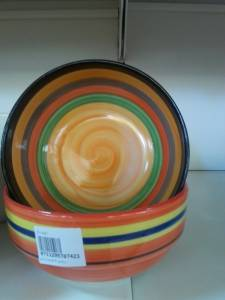 87423 Coloured Cermic Bowl