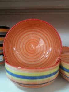 87430 Desined Coloured Ceramic Bowl