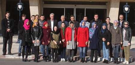 بازدید دانشجویان گرجی از دانشگاه تبریز