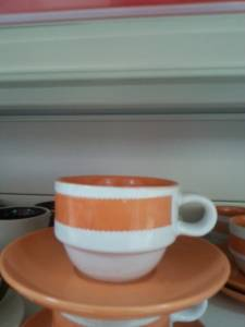 13136 Colored Cup With Plate
