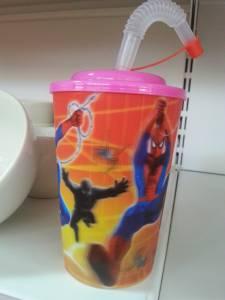 55657 Plastic  Waterglass With Straw